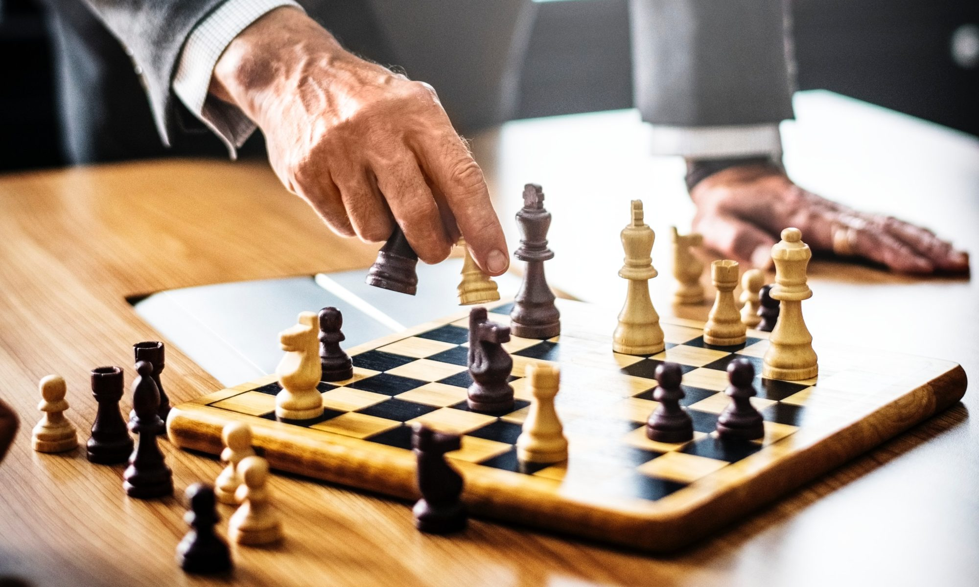 Chossing a move in a game of chess